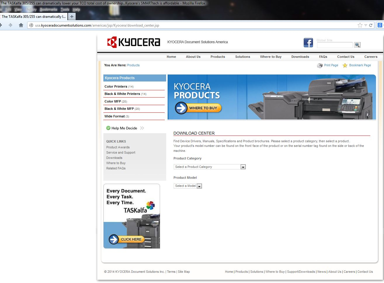 Kyocera Download Page
